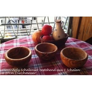 Schalen Set aus Olivenholz -3teilig