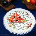 Pizza plate, mediterranean