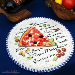 Pizza Teller, landestypisch, mediterran 33cm