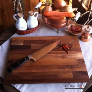 Walnut wood cutting board, modern