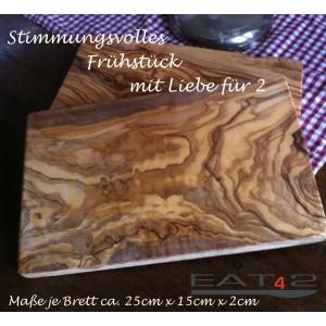 Colazione vassoio in legno di ulivo, rettangolare