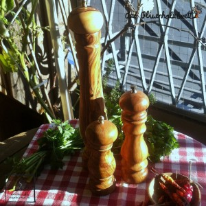 Salt or Pepper Mill out of olive wood
