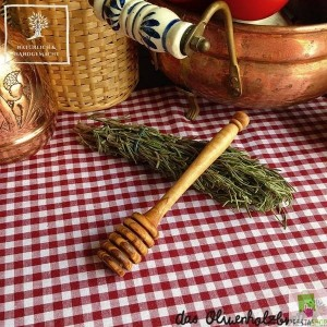 Honey dipper out of wood, handmade