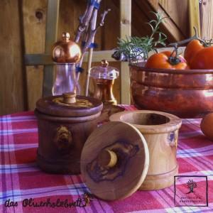 boîte à épices en bois d'olivier