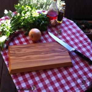 Frühstücksbrett aus Holz, rechteckig - schräge Kante