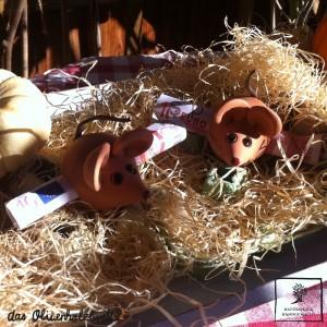 Keramikmaus für Gutscheine oder Geld