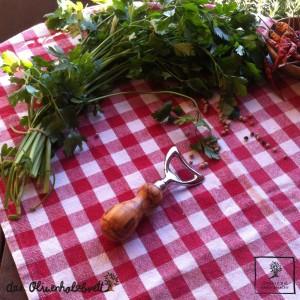Flschenöffner mit Olivenholzgriff