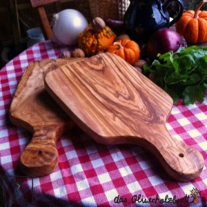 2 x herb cutting boards with a handle