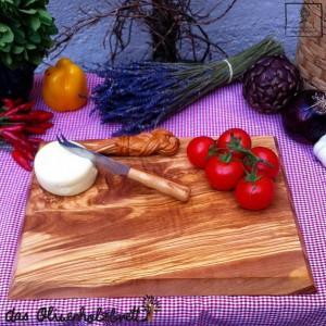 Küchenbrett aus Holz, rechteckig - schräge Kante