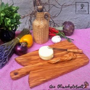 Tabla de cortar para servir de madera de olivo