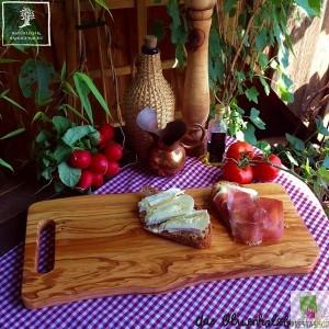 Bandeja para servir de madera de olivo