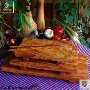 Olive wood cutting board for sushi