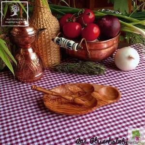 Olive wood salami knife