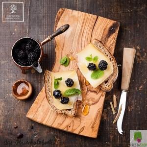 4er Set rustikales Frühstücksbrett aus Olivenholz  rustic dish