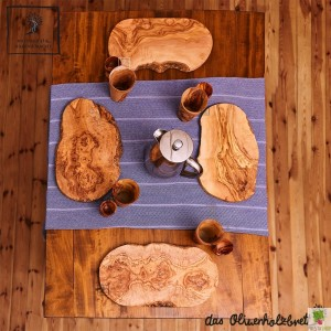 "Frühstück - Set ""Familie"" aus Olivenholz 12tlg"