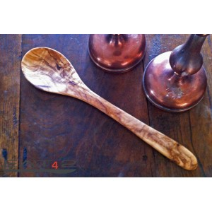 serving spoon out of olivewood