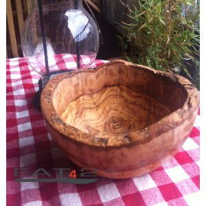 Olive wood bowl, natural look