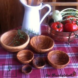 Schalen aus Olivenholz (sechser Set)
