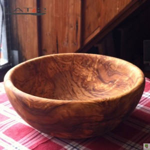 wooden bowl, large, handcrafted in a modern form