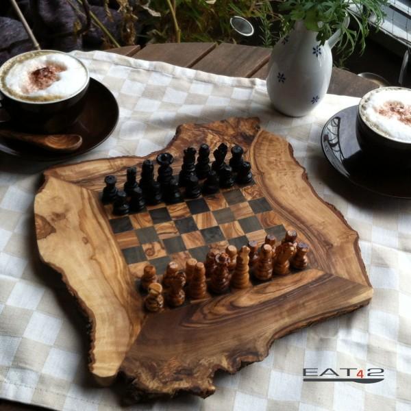 Schach Olivenholz Schachspiel Inclusive Brett Und Der Figuren