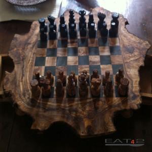 Schachspiel Olivenholz