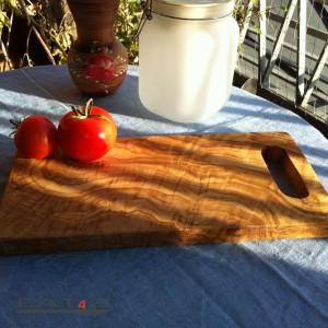 Kräuterbrett aus Olivenholz, rechteckig mit Griff