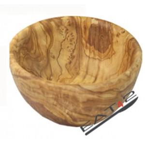 Ciotola di insalata in legno di olivo, conchiglia,