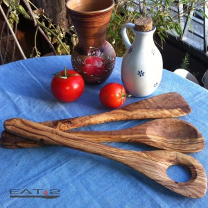 Pfannenwender Set aus Olivenholz - 3 teilig