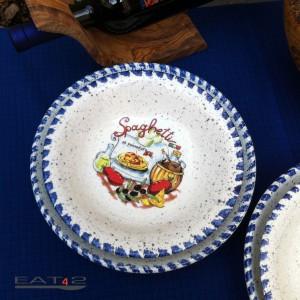 Typisch mediterraner Pasta Teller  21cm