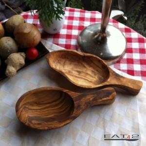 Schaufel oder Schale aus Olivenholz