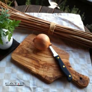 Schneidbrett Holz, rechteckig und mit Griff