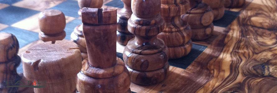 Olivenholz Schachspiel
